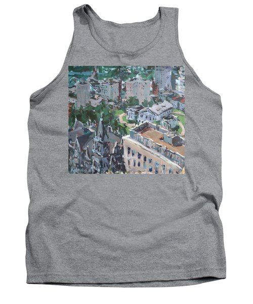 Original Contemporary Cityscape Painting Featuring Virginia State Capitol Building Tank Top