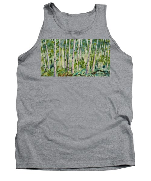 Original Watercolor - Summer Aspen Forest Tank Top