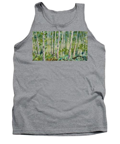 Original Watercolor - Summer Aspen Forest Tank Top