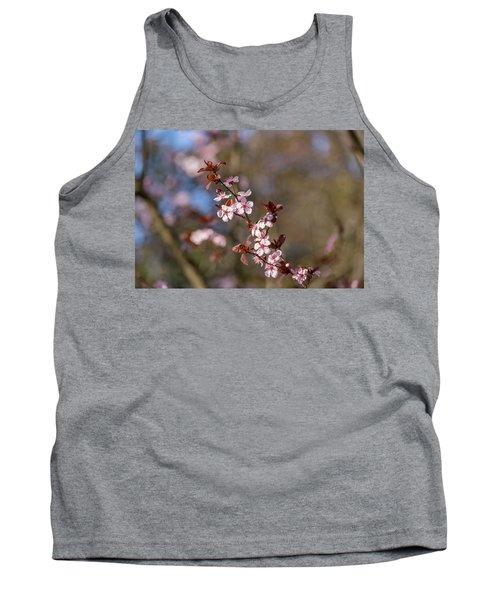 Purple Leaf Sandcherry Blossoms Tank Top