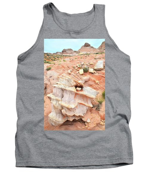 Tank Top featuring the photograph Ornate Rock In Wash 4 Of Valley Of Fire by Ray Mathis