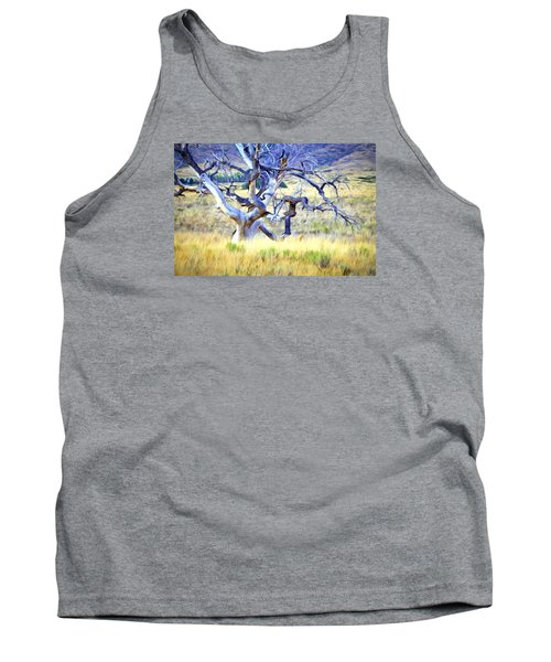 Out Standing In My Field Tank Top by James Steele