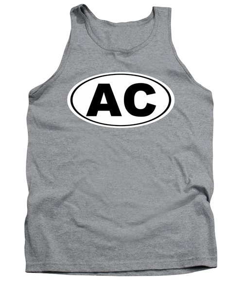 Tank Top featuring the photograph Oval Ac Atlantic City New Jersey Home Pride by Keith Webber Jr