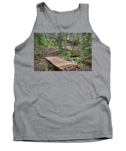 Tank Top featuring the photograph Over The Bridge And Through The Woods by James BO Insogna