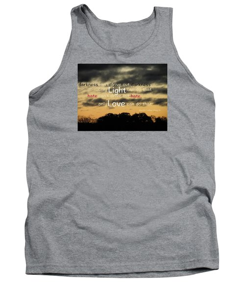 Tank Top featuring the photograph Overpowering Hate by David Norman