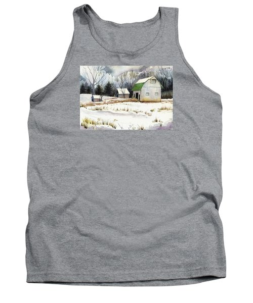Tank Top featuring the painting Owen County Winter by Katherine Miller