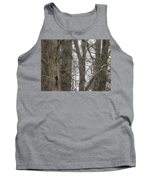 Owl In Camouflage Tank Top