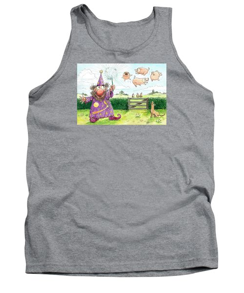 Pigs Might Fly    P8 Tank Top by Charles Cater