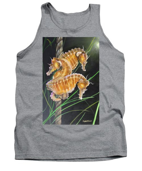 Pacific Lined Seahorse Trio Tank Top