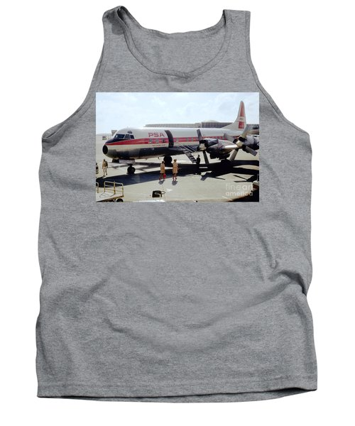 Pacific Southwest Airlines Lockheed L-188c, N376ps Tank Top