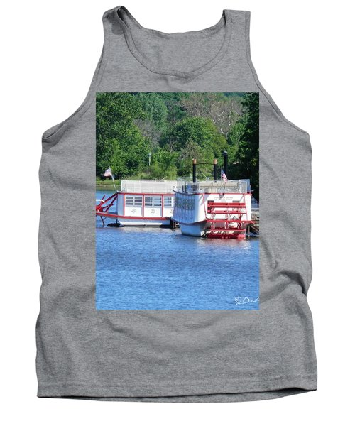 Paddleboat On The River Tank Top