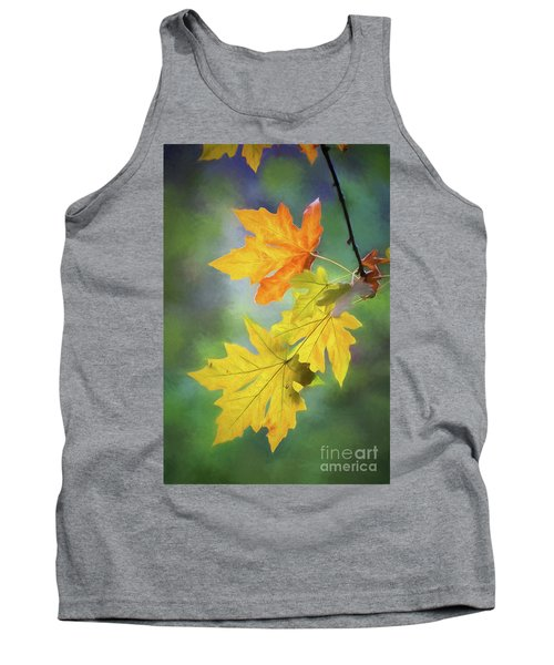 Painted Autumn Leaves Tank Top