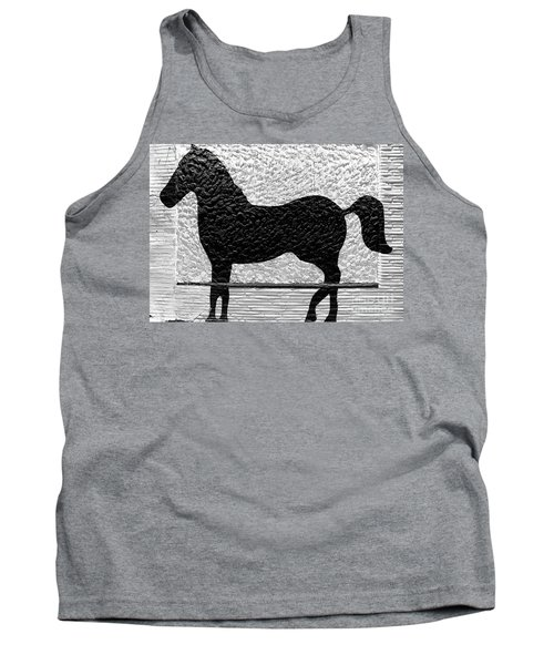 Tank Top featuring the photograph Painted Black - Stone Pony by Colleen Kammerer