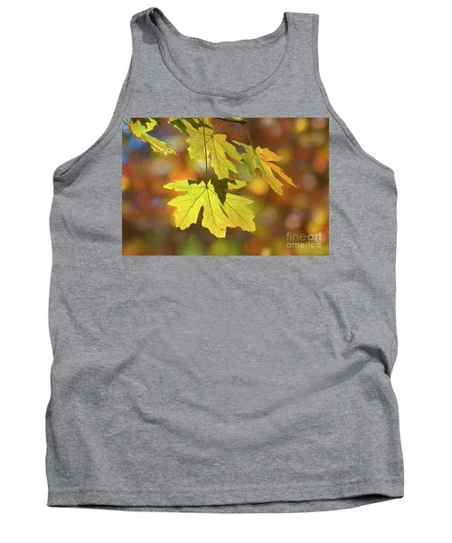 Painted Golden Leaves Tank Top
