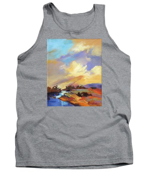 Tank Top featuring the painting Painted Sky by Rae Andrews
