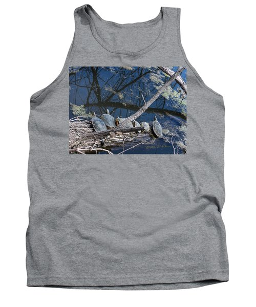 Painted Turtle Dance Line Tank Top by Edward Peterson