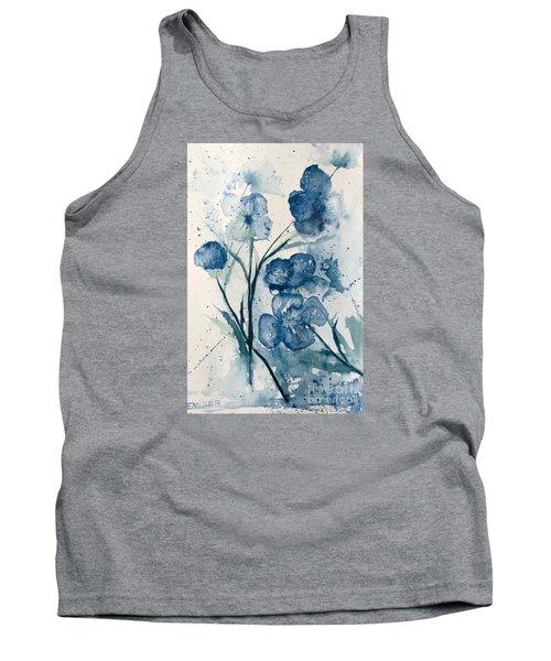 Painterly  Blues Tank Top