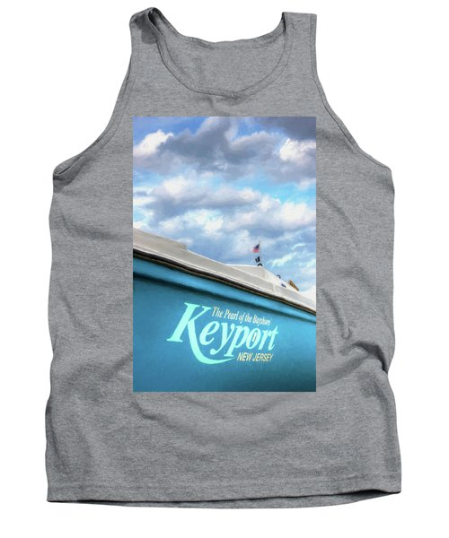 Tank Top featuring the photograph Painterly Keyport Sailboat by Gary Slawsky