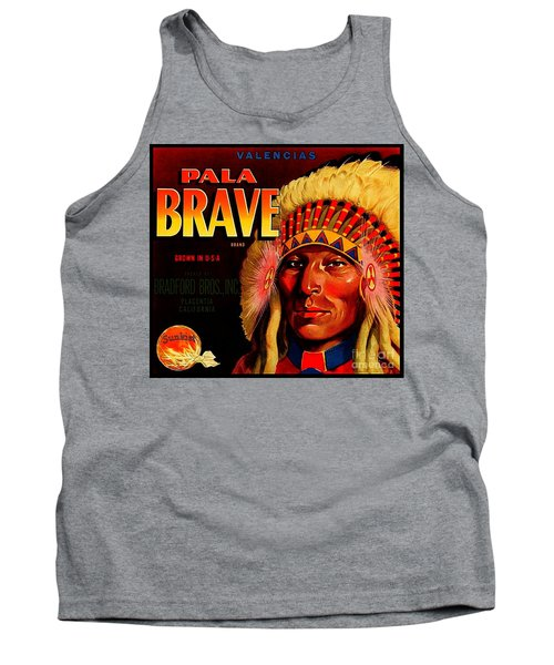 Tank Top featuring the painting Pala Brave 1920s Sunkist Oranges by Peter Gumaer Ogden