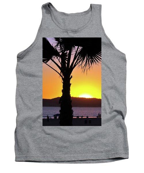 Palm At Sunset Tank Top