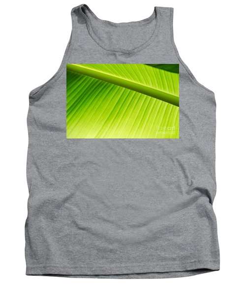 Tank Top featuring the painting Palm Leaf Background by Yurix Sardinelly
