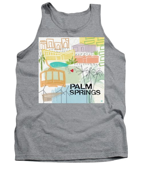 Palm Springs Cityscape- Art By Linda Woods Tank Top