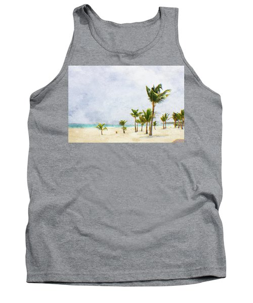 Palmtrees In Punt Cana Tank Top