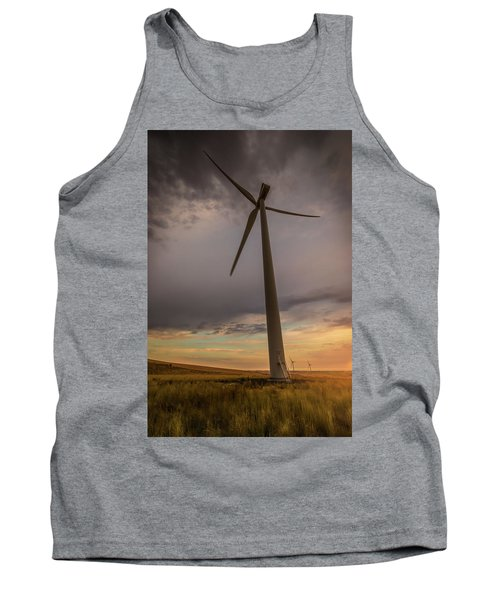 Tank Top featuring the photograph Palouse Windmill At Sunrise by Chris McKenna