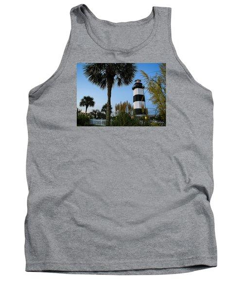 Pampas Grass, Palms And Lighthouse Tank Top
