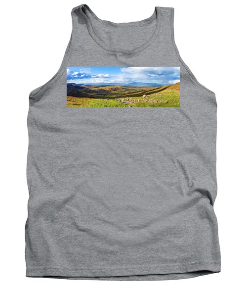 Tank Top featuring the photograph Panorama Of A Colourful Undulating Irish Landscape In Kerry by Semmick Photo