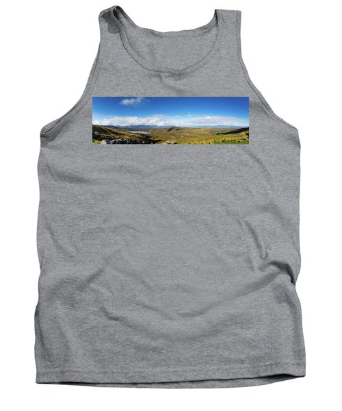 Tank Top featuring the photograph Panorama Of Ballycullane And Lough Acoose In Ireland by Semmick Photo