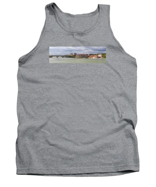 Tank Top featuring the photograph Panorama Of The Hydroelectric Power Station In Toulouse by Semmick Photo