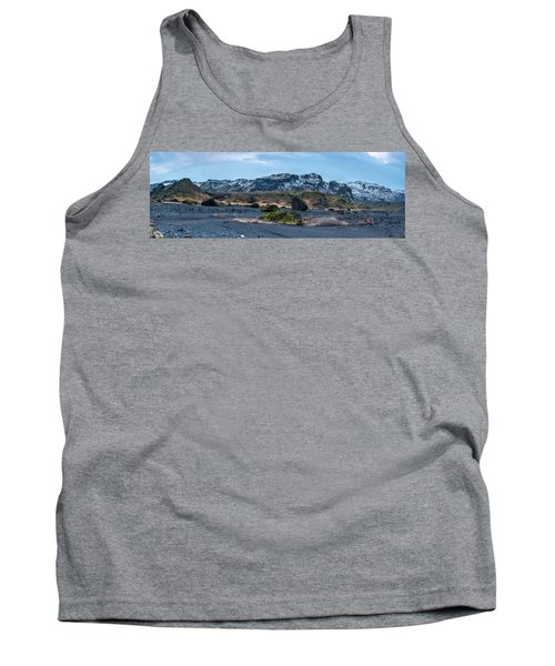 Panorama View Of An Icelandic Mountain Range Tank Top by Joe Belanger