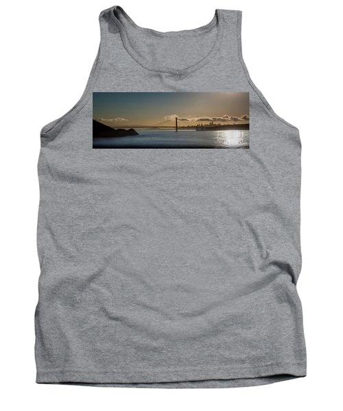 Panoramic View Of Downtown San Francisco Behind The Golden Gate  Tank Top