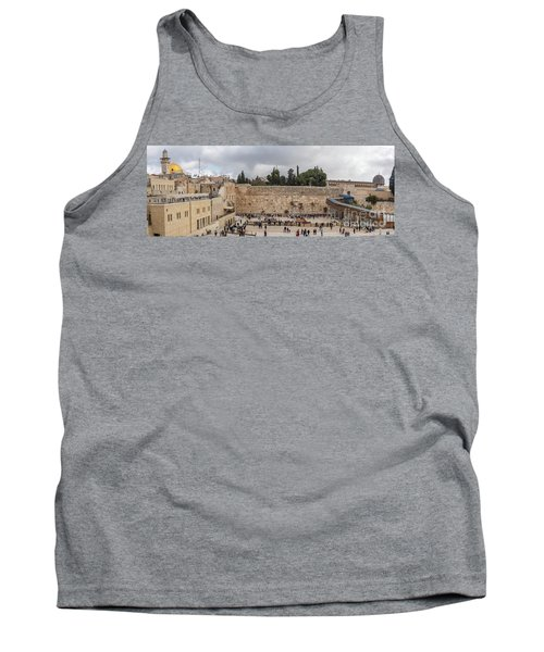Panoramic View Of The Wailing Wall In The Old City Of Jerusalem Tank Top
