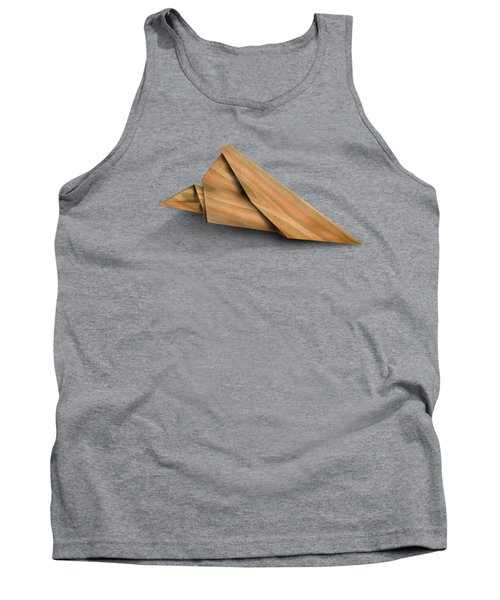 Paper Airplanes Of Wood 2 Tank Top by Yo Pedro