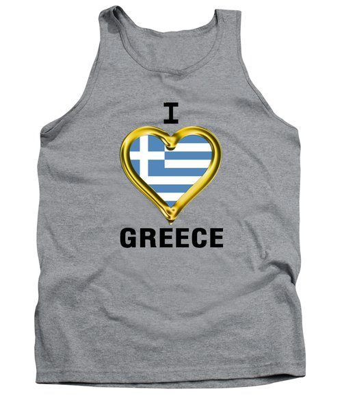 Parchment Background I Heart Greece Tank Top