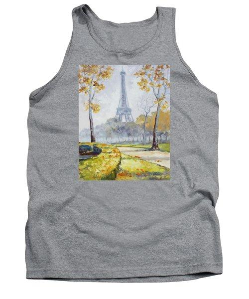 Paris Eiffel Tower From Trocadero Park Tank Top