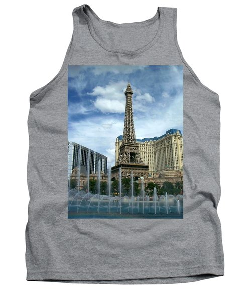 Paris Hotel And Bellagio Fountains Tank Top