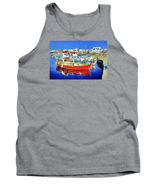 Paros Fishing Boats Tank Top