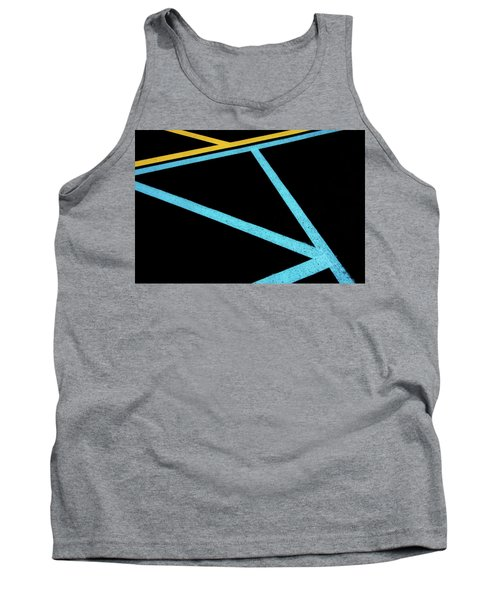 Tank Top featuring the photograph Partallels And Triangles In Traffic Lines Scene by Gary Slawsky