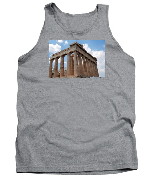 Tank Top featuring the photograph Parthenon Side View by Robert Moss