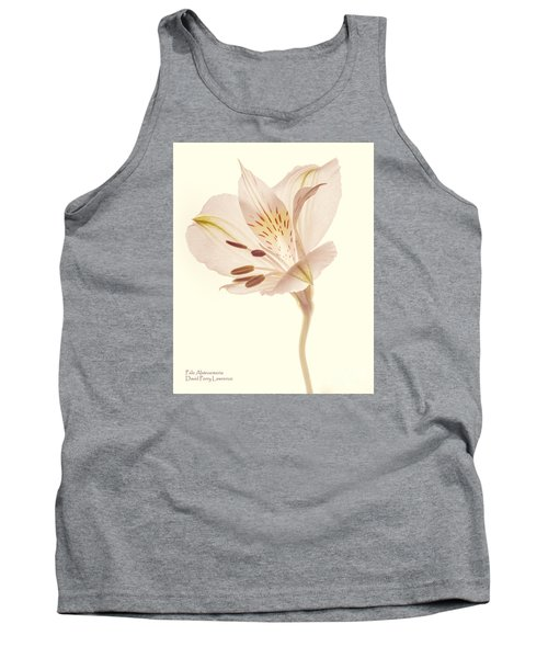 Tank Top featuring the photograph Pasae Alstroemeria By Flower Photographer David Perry Lawrence by David Perry Lawrence