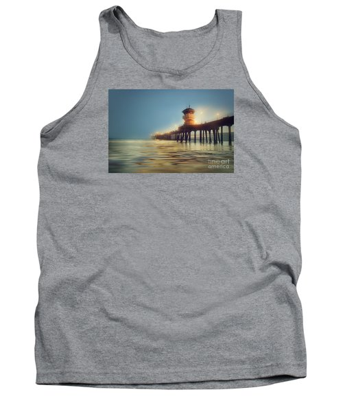 Pastel Evening At Huntington Beach Pier Tank Top