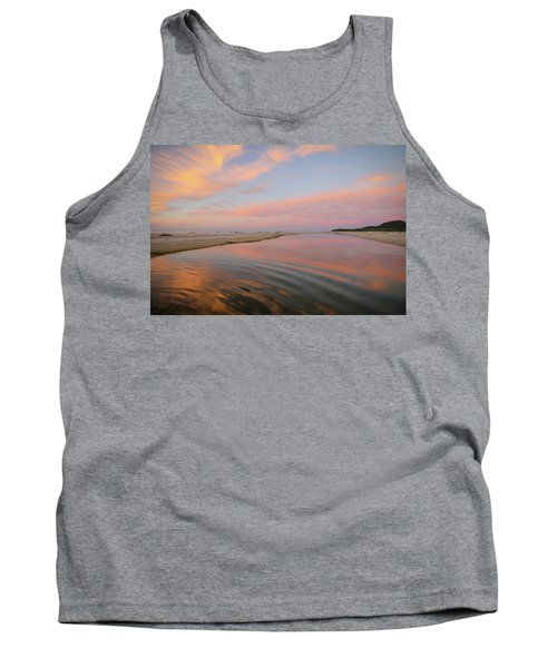 Pastel Skies And Beach Lagoon Reflections Tank Top
