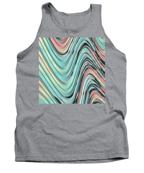 Tank Top featuring the digital art Pastel Zigzag by Bonnie Bruno