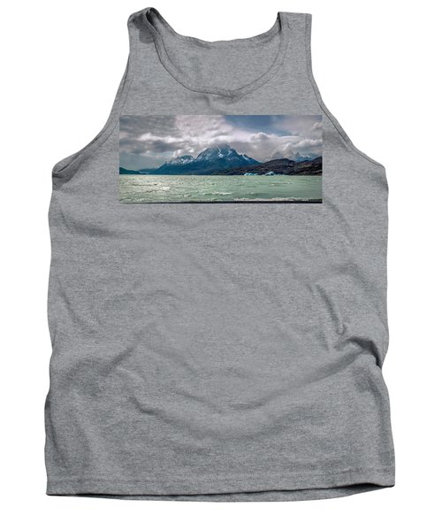 Tank Top featuring the photograph Patagonia Lake by Andrew Matwijec