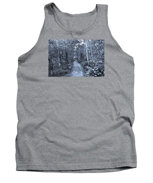 Path Trough The Blue Wood Tank Top