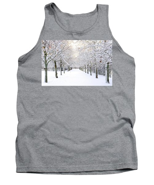 Pathway In Snow Tank Top