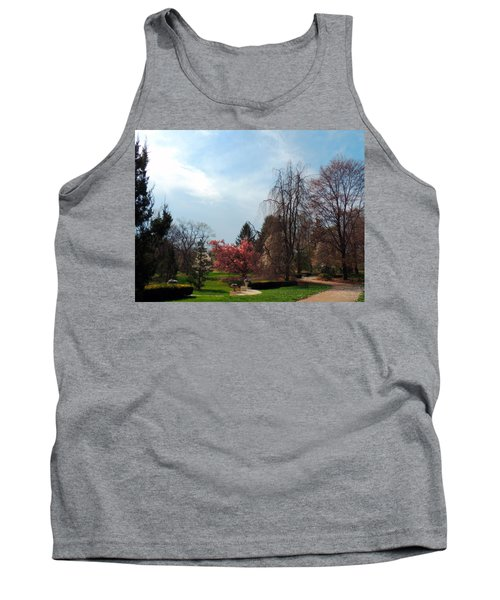 Pathway To Spring Tank Top by Teresa Schomig